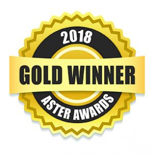 Five-time 2018 Gold Aster Award Winner