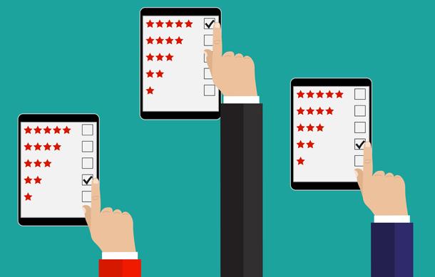 online peer reviews