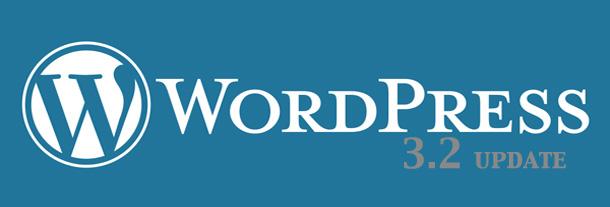 WordPress version 3.2