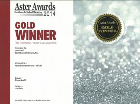 2014 Gold Aster AwardLightHouse Healthcare Calendar