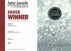 2014 Silver Aster AwardRegency Home Care Website