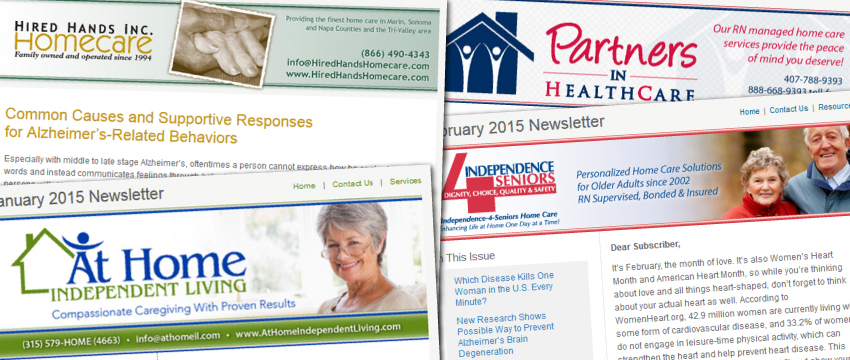 home care marketing newsletters