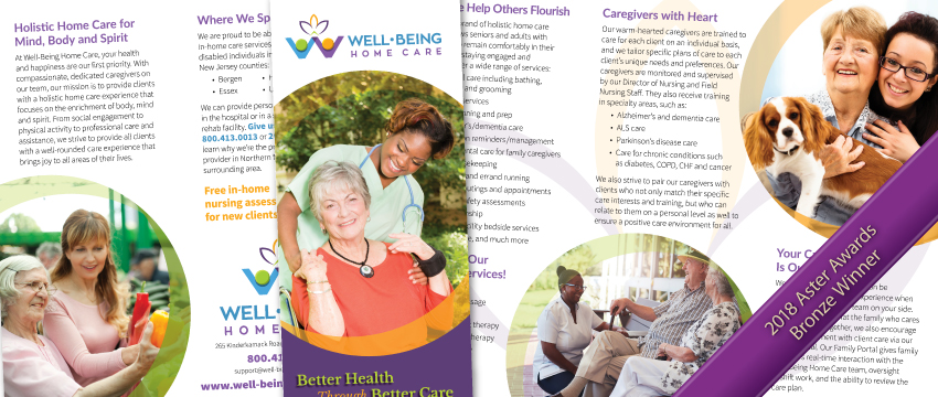 how to sell home health care services with a brochure
